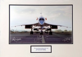 Limited Signed Three Pilot Concorde Photo