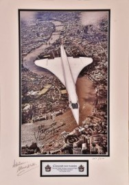 Concorde over London Limited   Photograph in Mount