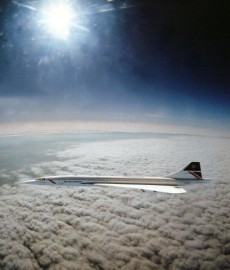 Concorde Flying Supersonic