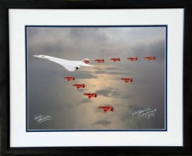 Concorde- G-BOAD and The Red Arrows Queens Jubliee Fly - over the North Sea