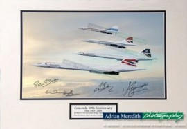 Concorde 40th Signed Four Concordes