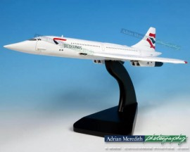 Concorde Wooden Model - Union Jack Livery