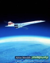 Concorde Over Earth Curvature - 12x10