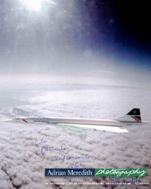 Only Photograph of Concorde G-BOAG flying supersonic at Mach 2 - Signed 16x12