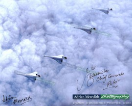 Concorde Famous Four - Signed 16x12