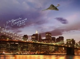 Signed Concorde over New York 2002 - 16x12
