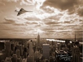 Concorde over New York 2002 - Signed 16x12