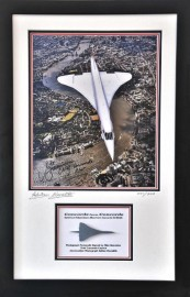 Concorde Framed Hiduminium & Signed Photo from  G-BOAG