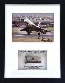 Signed Concorde Turbine Blade