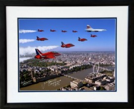 Concorde- G-BOAD and The Red Arrows Queens Jubilee flypast