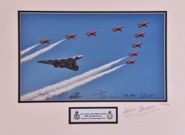 Avro Vulcan and Red Arrows Fly Past