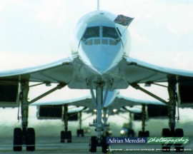 Three Concordes Line Up on Last Day 24-Oct-2003 - 20x16