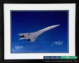 Concorde G-BOAG in Landor Livery Over Scotland - Framed and Signed 16x12